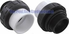 """Threaded Pool Pump Praher Union 2"""" Mpt x Slip for 2"""" Pump Inlets/Outlet Plumbing"""