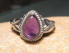 Sterling silver everyday amethyst ring UK M½-¾/US 6.75.Gift bag.