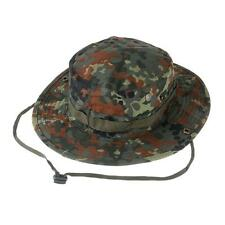 Combat Camo Ripstop Army Military Boonie Bush Jungle Sun Hat Cap Flecktarn Camo