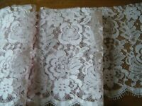 20c Brussels Alencon machine pink color cotton lace trim  edge scalloped Europe