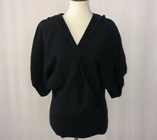 Daisy Fuentes Women's Tunic Top Black Pull Over Hood Size Med