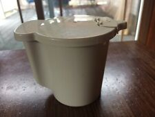 Vintage Tupperware Off White Creamer Pitcher 574-11 With Flip Lid 575-25.