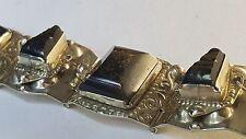 Taxco Hecho en Mexico ( Eagle Head ) Vintage Designer Silber 925 Armband Steine