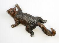 9937359 Hierro Forjado Ganchos de Pared Escultura Figura Ardilla Bronce 11x25cm