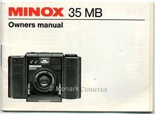 Minox 35Mb Camera Instruction Book, More Owners Manuals & User Guides Listed