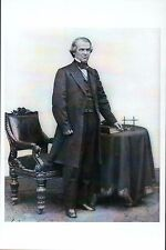 U.S. President Andrew Johnson after American Civil War - Modern History Postcard
