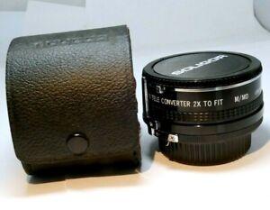 Soligor MP 2X teleconverte MD manual focus lens for Minolta Coated X-700