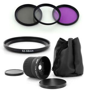 Albinar 52mm Fish Eye.18x wide lens,Filter Kit for NIKON D700 D80 D40x D90 D5200