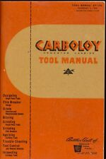 1949 CARBOLOY CEMENTED CARBIDE TOOL MANUAL GE Company