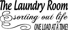 LAUNDRY ROOM Vinyl Wall Art sorting out life Wash quotes words letters load