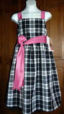 Girls Dress sz.12- Black & White w/Pink Taffeta Satin & Tulle- Ninas 12-NWOT's