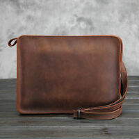 Men's Wallet Wristlet Shoulder Envelope Clutch Bag  Messenger Briefcase Leather