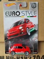 HOT WHEELS - FIAT 500 [RED] CAR NEAR MINT VHTF CARD EXCELLENT EURO STYLE