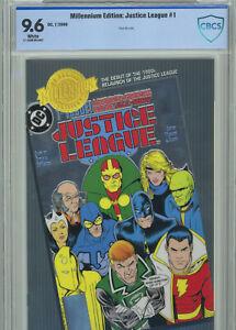 Justice League #1 Millennium Edition (2000) CBCS 9.6 Silver Foil Cover
