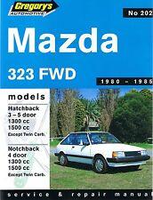 Mazda 323 FWD (1980-85) Gregory's Car Service & Repair Manual No. 202 FREE POST