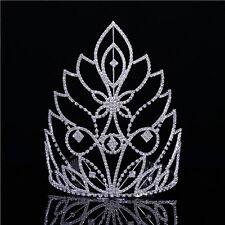 20cm hoch Groß Hochzeit Braut Haarschmuck Haarreif Krone Diademe Tiara Kämme