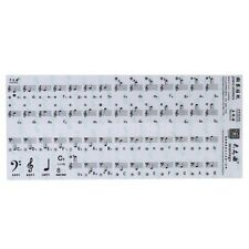 Transparent 49 61 88 Key Electronic Keyboard Piano Stave Note Stickers UK_GG