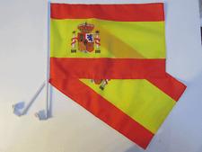 SPAIN / SPANISH CAR WINDOW FLAG - 2 PACK NEW