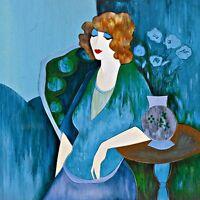 Modern Itzchak Tarkay Oil Painting art Repro Living Room Dawning Thoughts It12