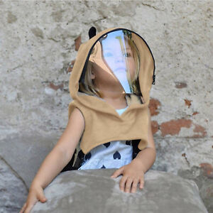 Child Face Shield Reusable Removable Full Protective Face Wear Clear Hooded Hat