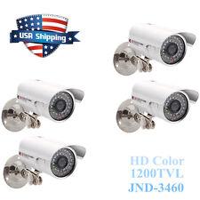 4X 1200TVL HD Color Outdoor CCTV Surveillance Camera 36IR Day Night Video WhiteM