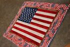 Sale  Flag Let Freedom Ring Patriotic 20 X 15 1/2 Handmade Quilted Table Runner