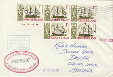 Norfolk Island 4528 - Used in HONOLULU, HAWAII  1968 PAQUEBOT cover to UK