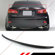 FOR 2006-13 LEXUS IS 250/350/ ISF VIP PAINTED GLOSSY BLK REAR TRUNK LID SPOILER