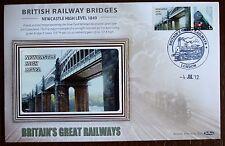 2012 Limited Edition Benham  Railway Bridges Cover - Newcastle High Level.