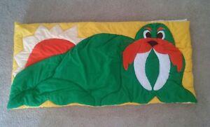 Handmade Yellow Child's Nap Sack Sleeping Bag Green Walrus Sun Theresa G Kinser