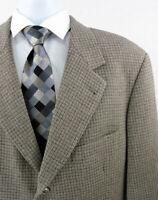 HUGO BOSS Germany Wool Mens Sport Coat Jacket Size 46L 3-Btn Beige Einstein 46
