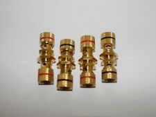 Lot of 4 Gold plated speaker binding post terminals 2 Pair