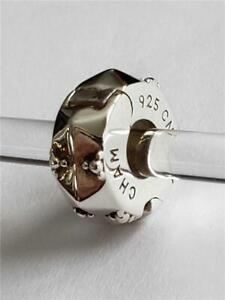 NWT Chamilia ~FACETED GEOMETRY FREEDOM LOCK~ Sterling Charm Bead 1410-0005 $40
