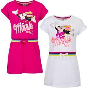 Disney Minnie Mouse Kleid für Mädchen Sommerkleid Kurzarm