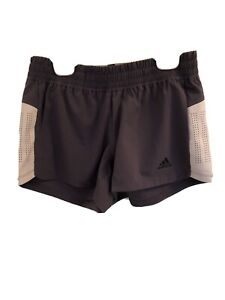 Adidas WOMEN'S TRAINING  3-STRIPES PERFORATED SHORTS-SZ XSTRACE PURPLE-NWT