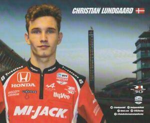 2021 Christian Lundgaard Mi-Jack Honda Dallara Indy Car Hero Card
