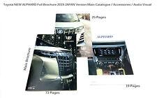 2019 Toyota NEW ALPHARD 30 Sales Brochure Accessories Audio Navi JAPAN