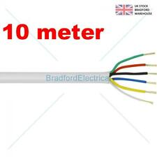 6 Core Alarm Cable 10m. meter White. Top Quality CQR British Made. Free UK