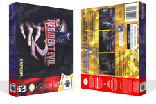 Resident Evil 2 N64 Replacement Game Case Box + Cover Art (No game)