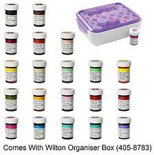 Wilton Juego Completo de 20 Helado Color Pasta y Caja Almacenaje Gel Comida