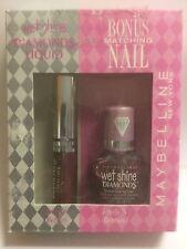 Maybelline Wet Shine Diamonds Lip Gloss JEWELS N BERRIES + BONUS MATCHING NAIL