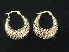 Vintage 14k Yellow Gold RALPH LAUREN Graduated Oval Hoop Earrings