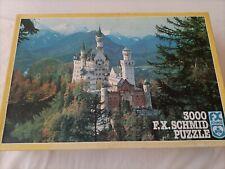 F.X SCHMID 3000 piece Neuschwanstein Bayern Bavaria Castle Jigsaw. West Germany.