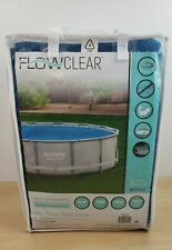 Solar Flowclear Pool Cover 15ft Fast Set - 14ft Steel Round Swimming Bestway