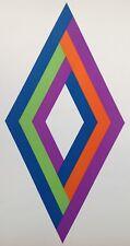 Lithographie Originale 1970 signée 50x70cm Op Art Bill Bonato Denny Dohr Geiger