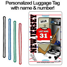 Personalized New Jersey Hockey Luggage Tag