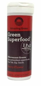TWO Amazing Grass Superfood Effervescent Greens Supplement (Berry) Expired