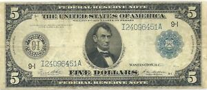 1914 FEDERAL RESERVE NOTE~ MINNEAPOLIS, MINNESOTA ~ SCARCER DISTRICT ~ NICE