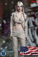 1/6 Harley Quinn Head Sculpt Prisoner Suit Set Suicide Squad Phicen Figure ❶USA❶