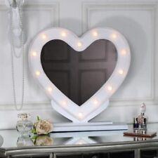 Espejos decorativos de tocador blancos para el hogar